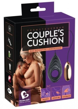 Couples Cushion 3 in1 - Cordless Vibrator (Black)